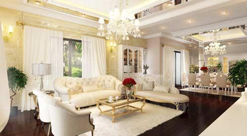biệt thự thiết kế theo phong cách tân cổ điển